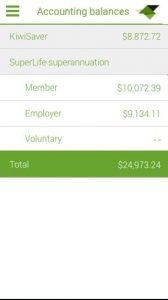 SuperLife mobile app - Balances